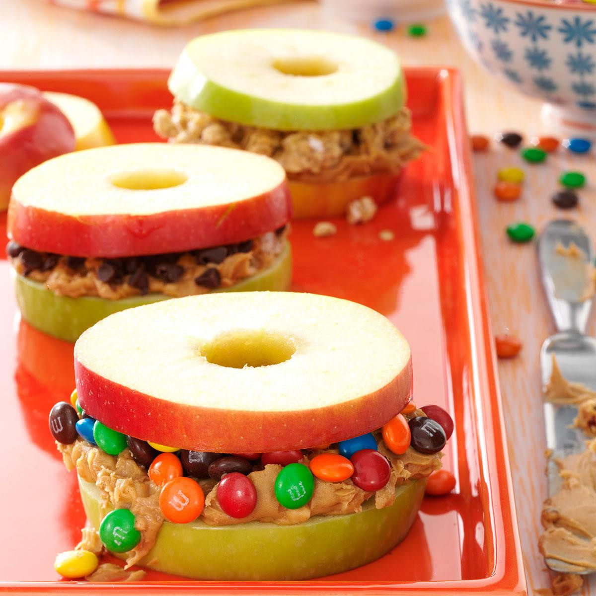 Healthy Cold Snacks  Apple and Peanut Butter Stackers Recipe