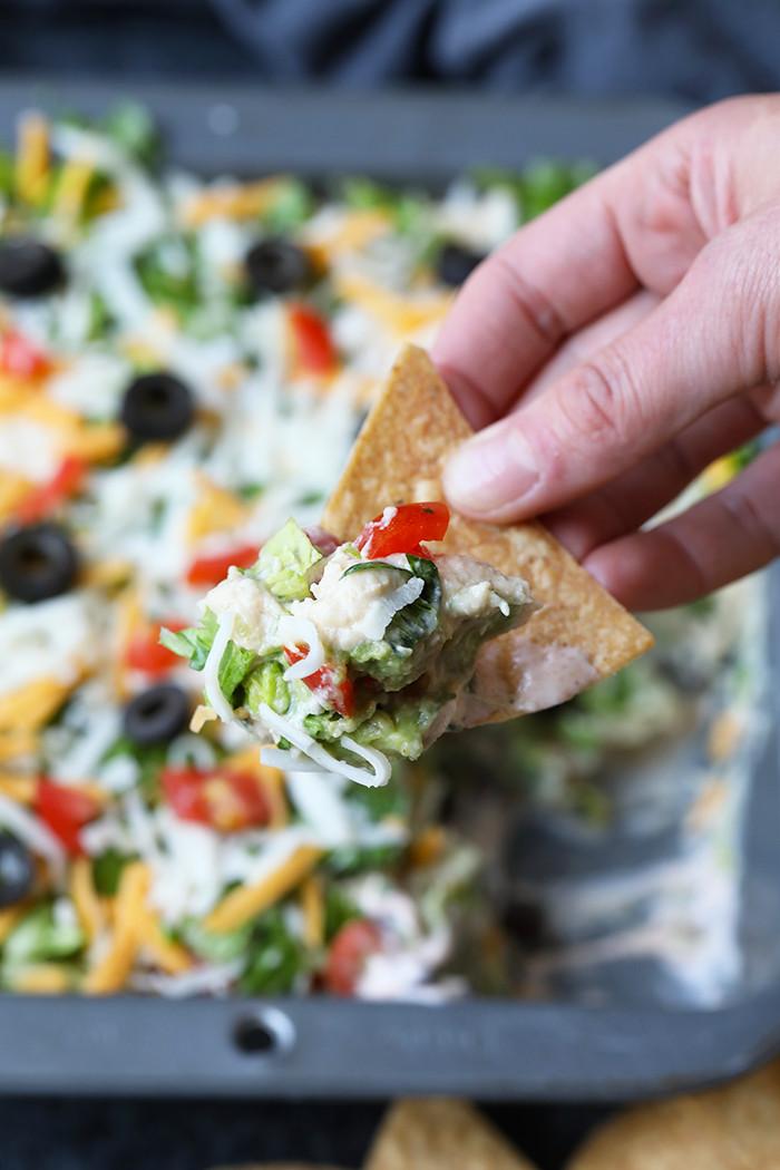 Healthy Cold Snacks  Healthy 7 Layer Greek Yogurt Taco Dip Easy Appetizer Idea