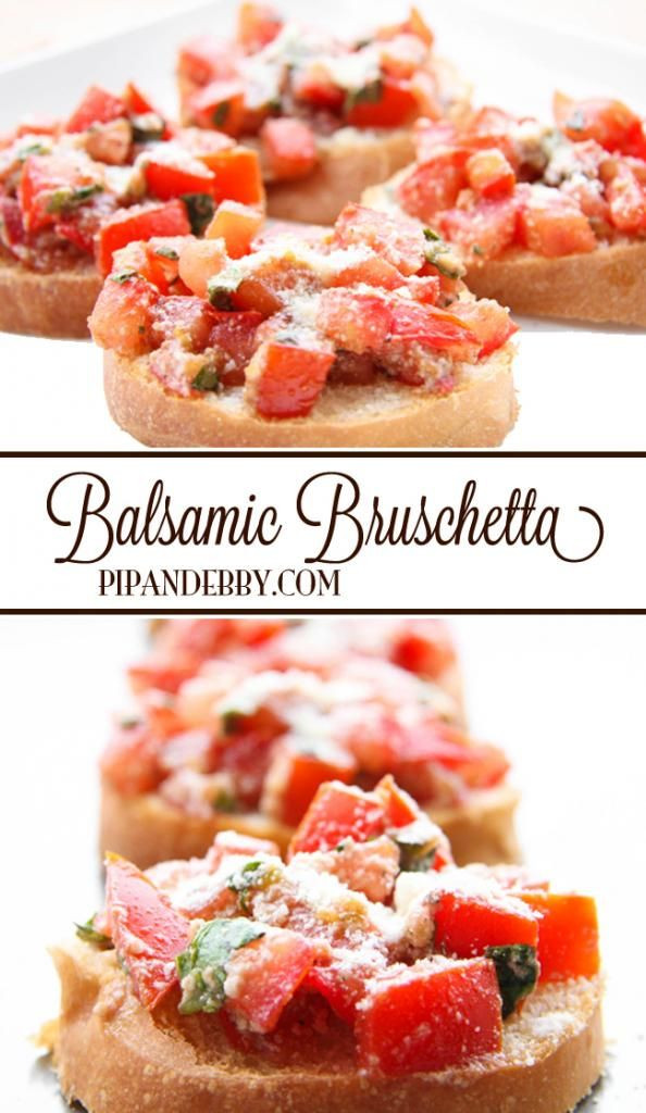 Healthy Cold Snacks  Check out Balsamic Bruschetta It s so easy to make