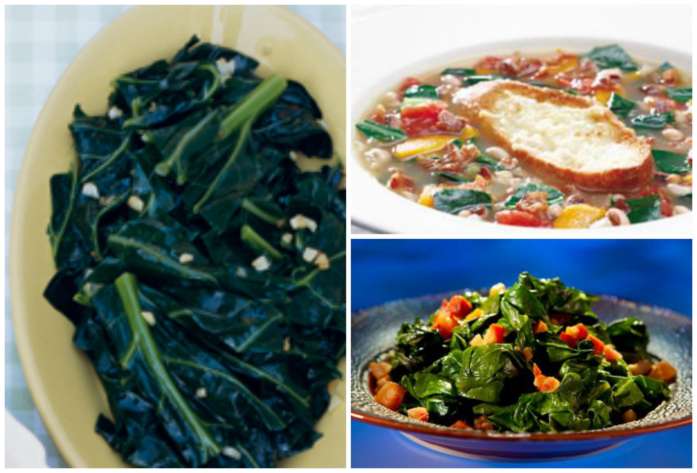 Healthy Collard Greens Recipe  Seasonal Eating Scoop Produce of the month Collard greens