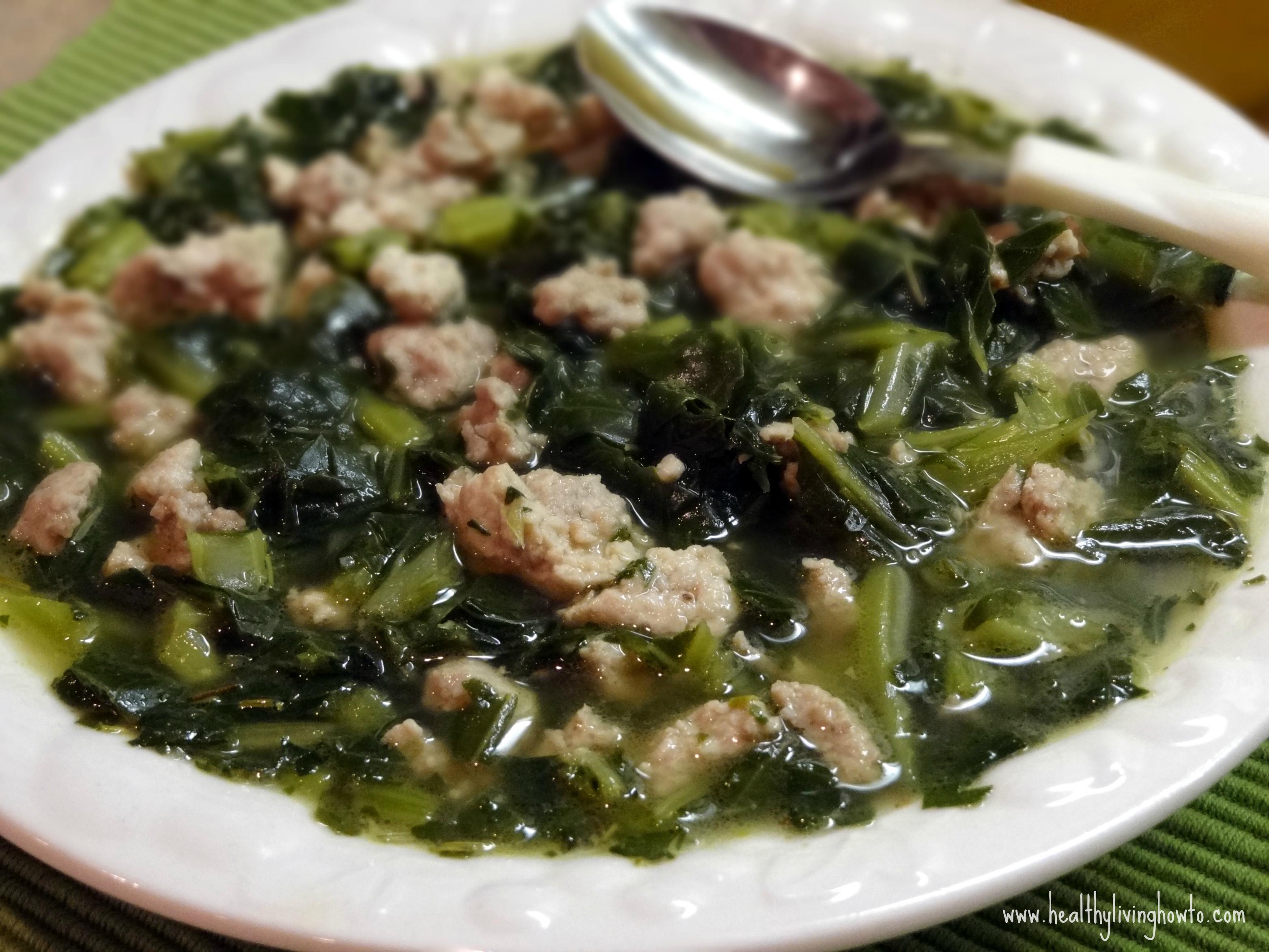 Healthy Collard Greens Recipe  Healthy Recipe Turkey & Collard Greens Soup