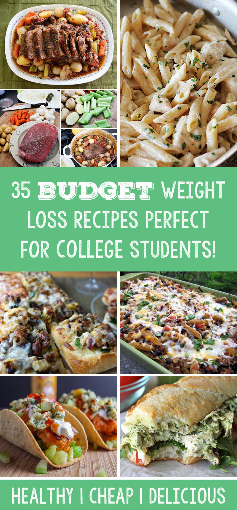 Healthy College Dinners  healthy meals for college students to lose weight