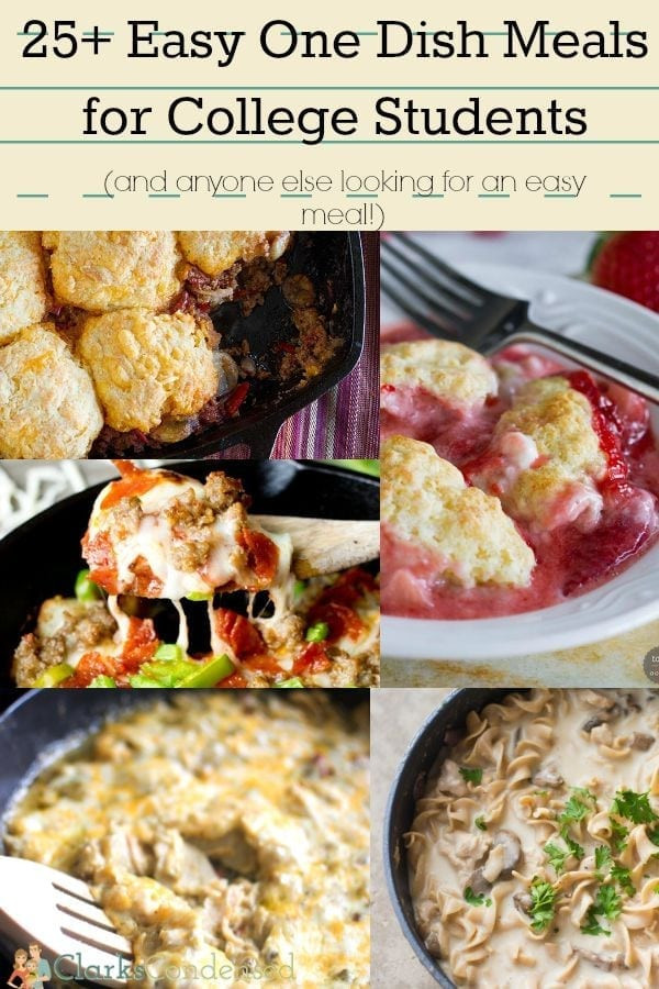 Healthy College Dinners  basic recipes for college students