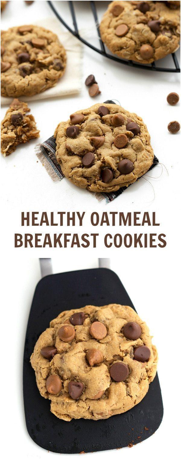 Healthy Cookies No Sugar  Healthy Oatmeal Breakfast Cookies