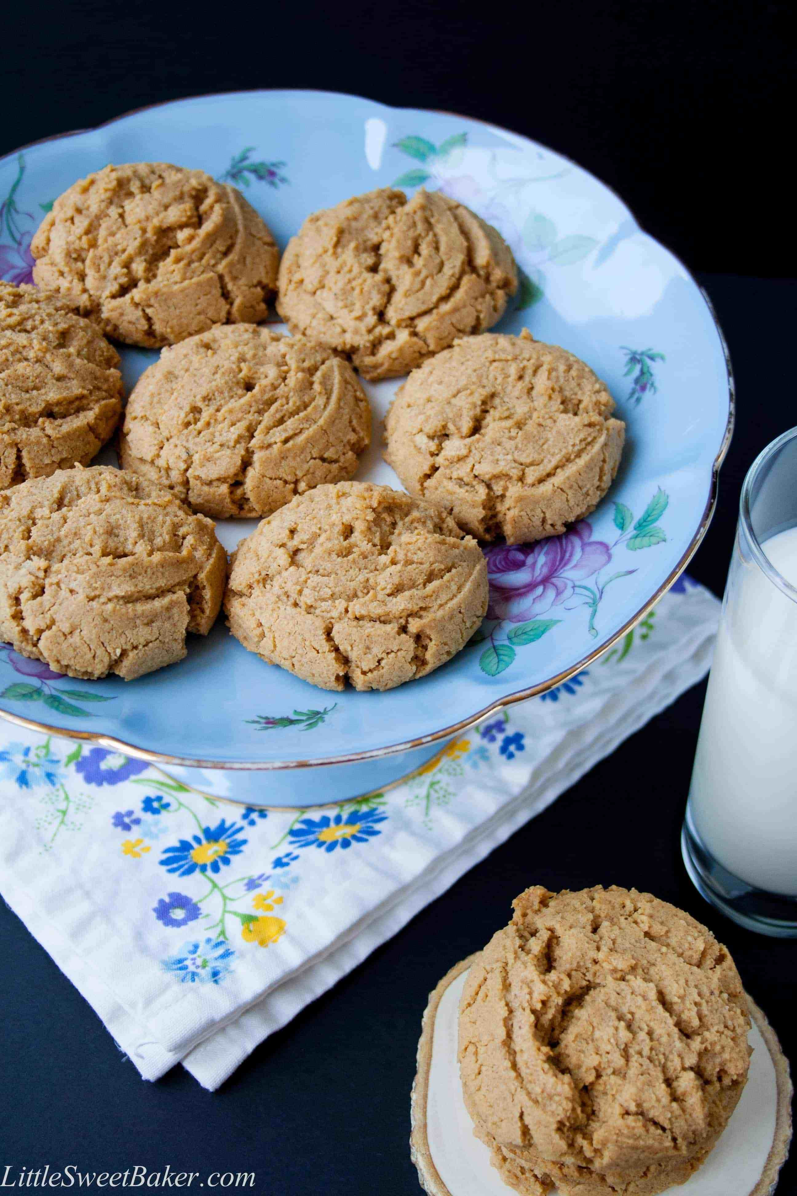 Healthy Cookies No Sugar  Healthy Natural Peanut Butter Cookies Little Sweet Baker