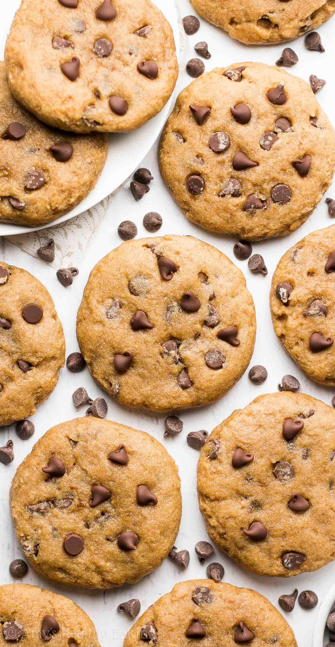 Healthy Cookies Recipe  Healthy Banana Chocolate Chip Cookies Recipe Video