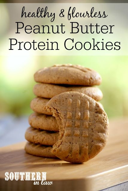 Healthy Cookies Recipe Low Calorie  Flourless Peanut Butter Protein Cookies Recipe low fat