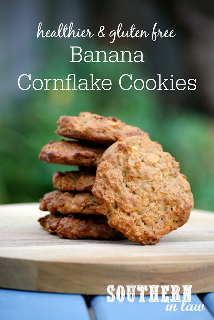 Healthy Cookies Recipe Low Calorie  Southern In Law Recipe Healthier Banana Cornflake Cookies