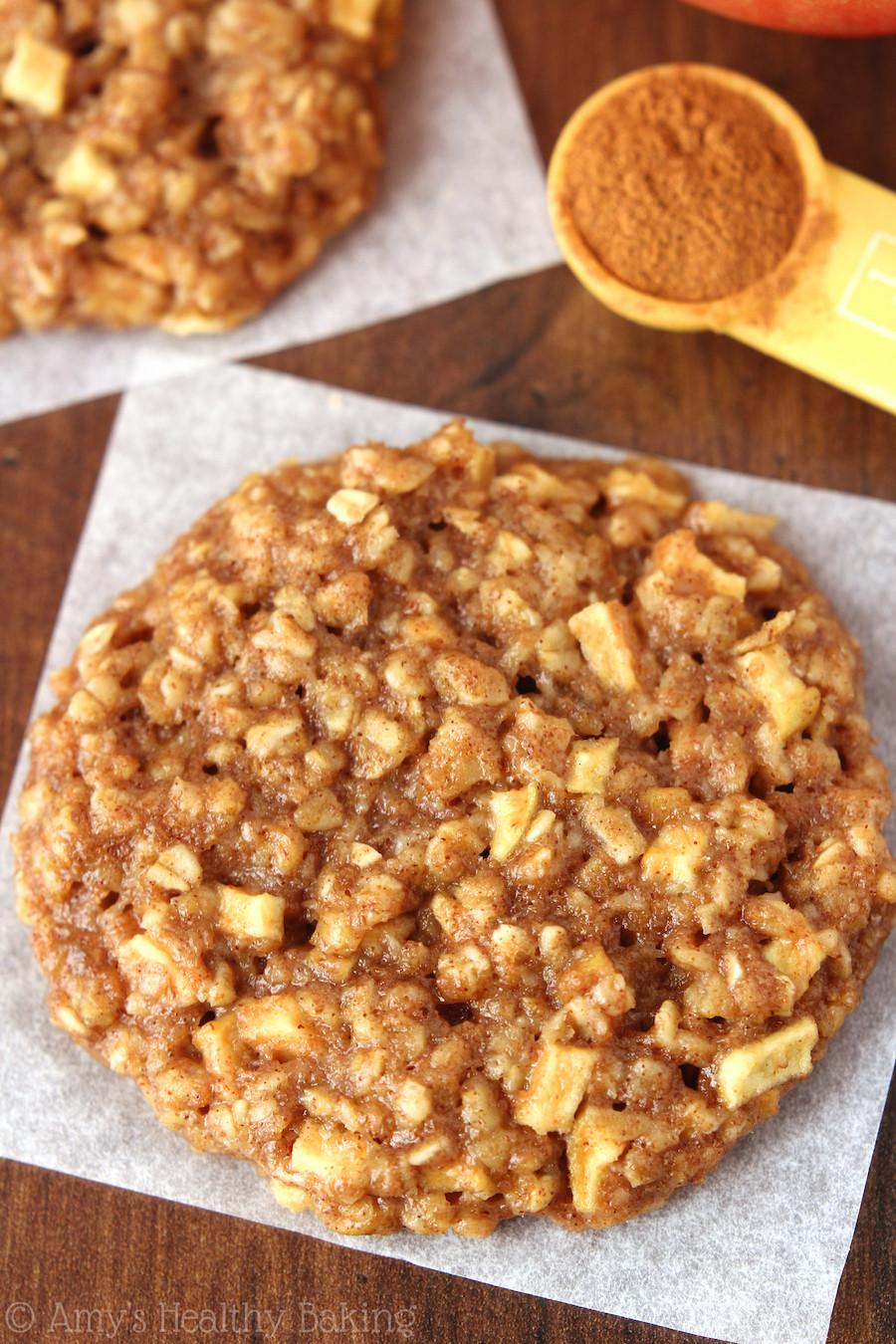 Healthy Cookies Recipe  Apple Pie Oatmeal Cookies Recipe Video