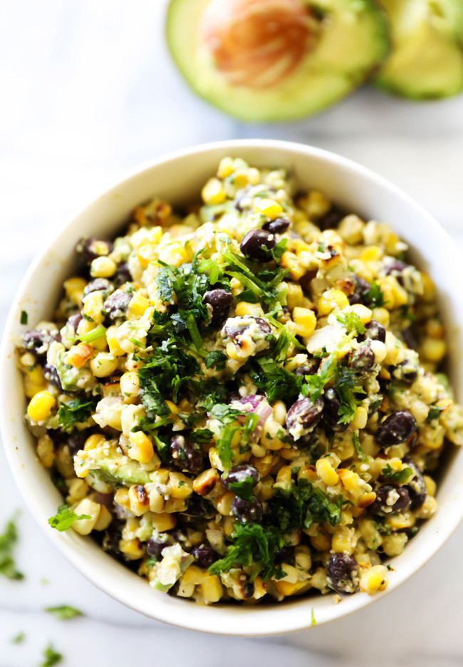 Healthy Corn Side Dishes  Mexican Street Corn Salad Chef in Training