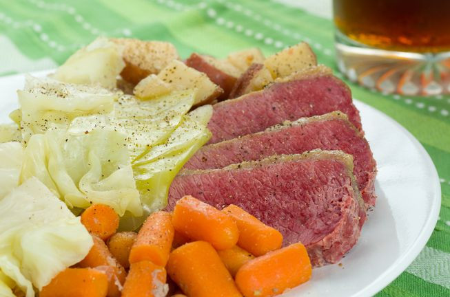 Healthy Corned Beef And Cabbage  Slow cooker corned beef and cabbage