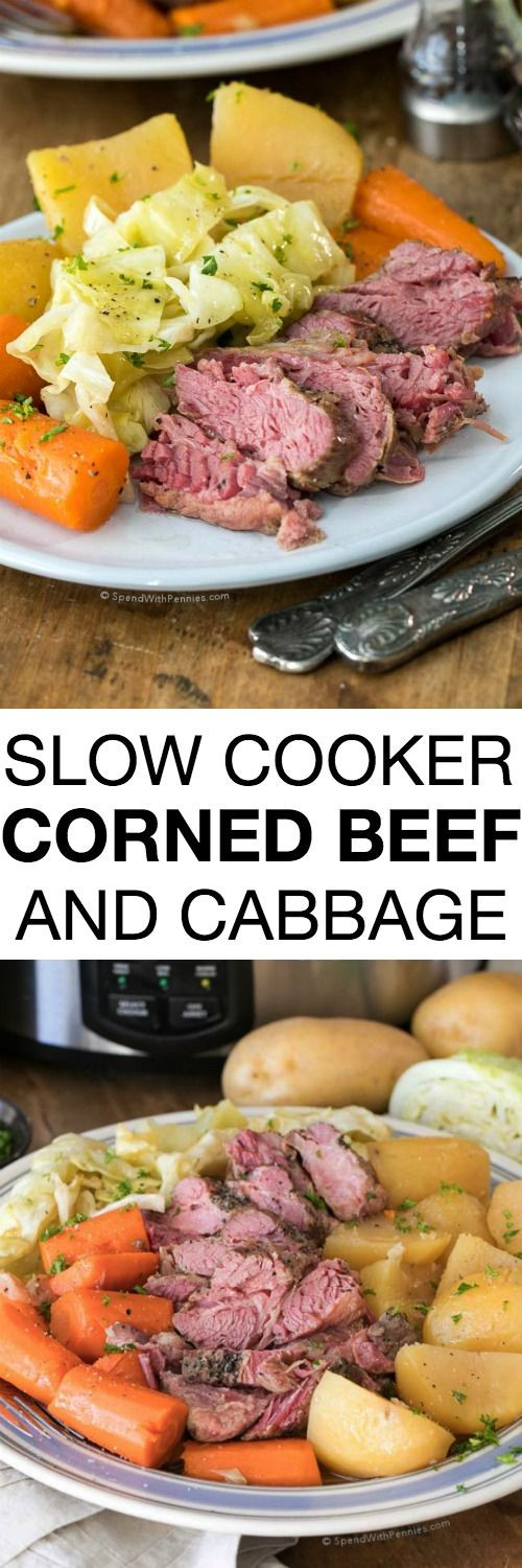 Healthy Corned Beef And Cabbage  Slow Cooker Corned Beef And Cabbage Recipe — Dishmaps