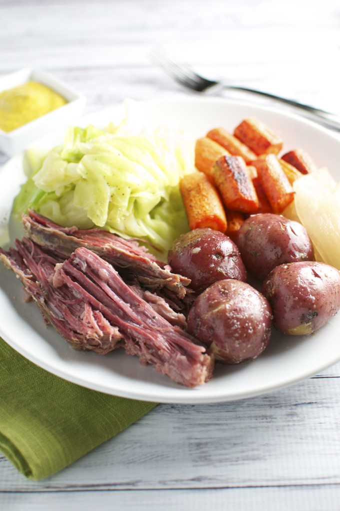 Healthy Corned Beef And Cabbage  Corned Beef and Cabbage with the Fixins Stuck Sweet