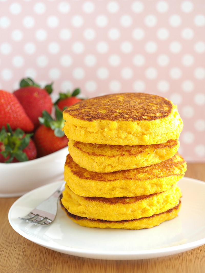Healthy Cornmeal Pancakes  Gluten Free Cornmeal Pancakes The Breakfast Drama Queen