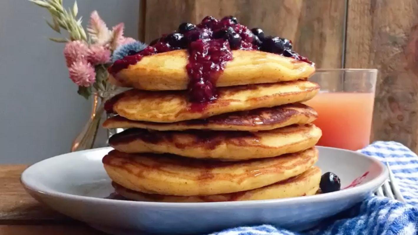 Healthy Cornmeal Pancakes  How to Make Polenta Pancakes