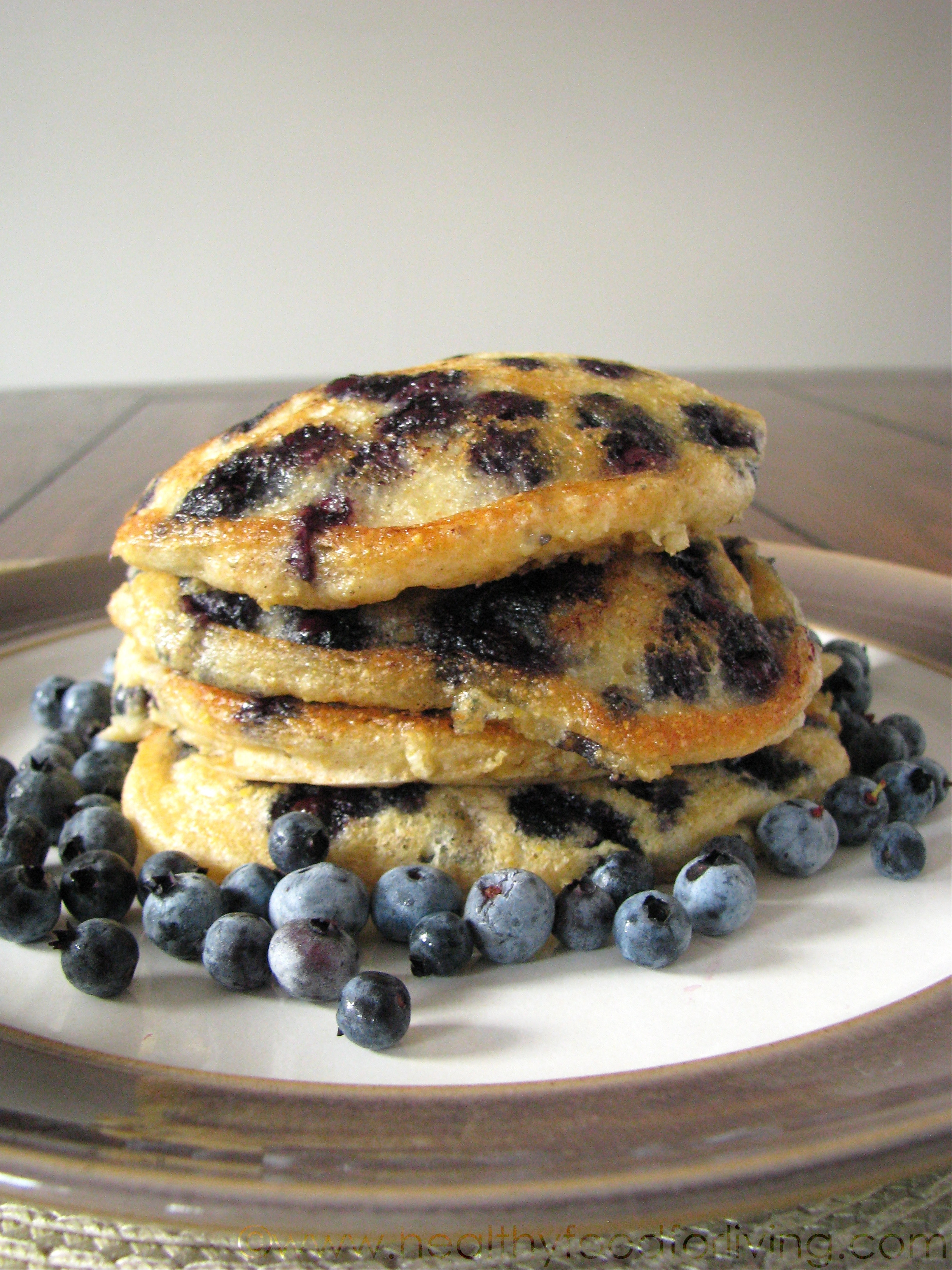 Healthy Cornmeal Pancakes  IMG 2400