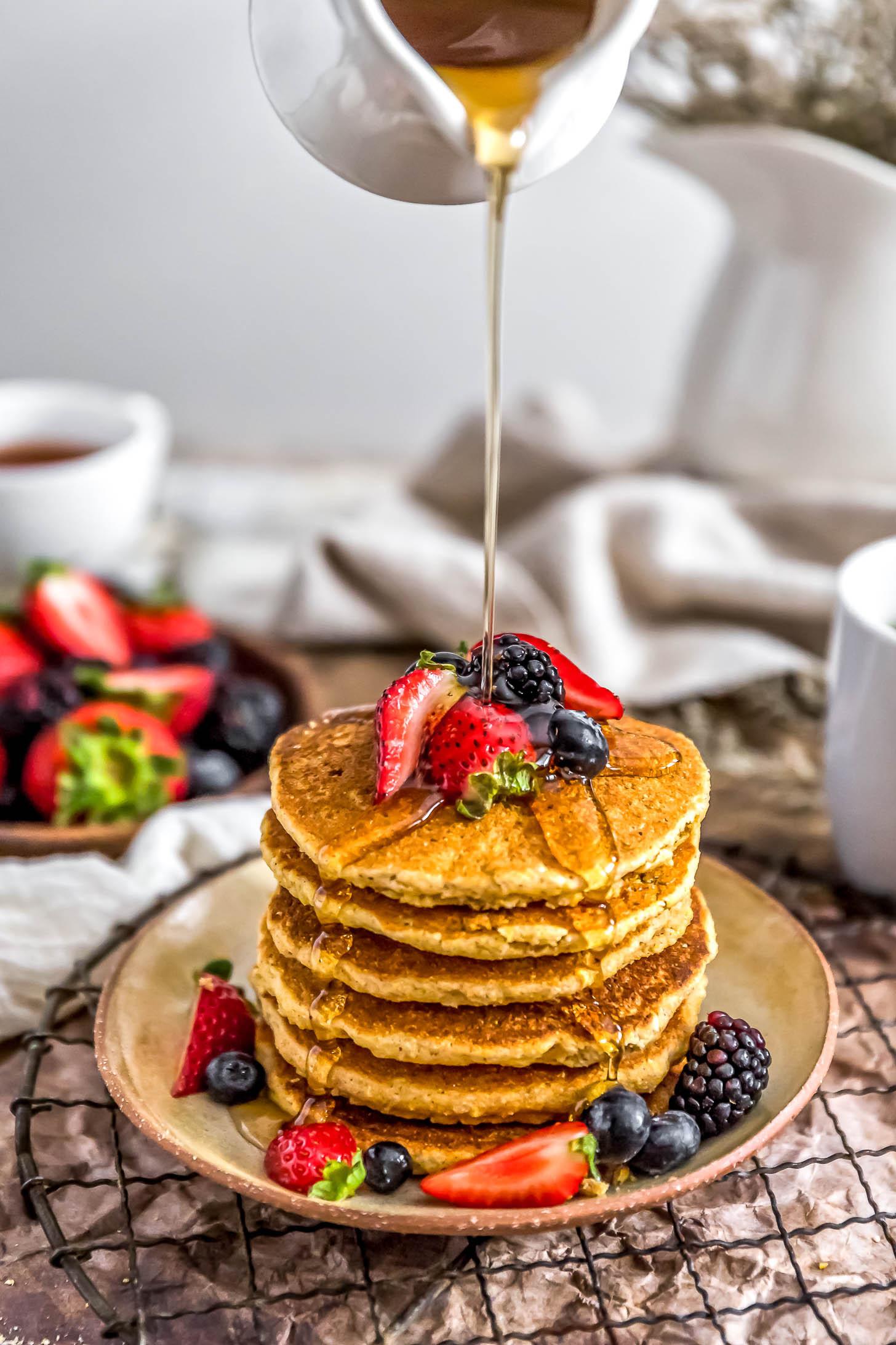 Healthy Cornmeal Pancakes  Monkey and Me s Menu 30 Monkey and Me Kitchen Adventures