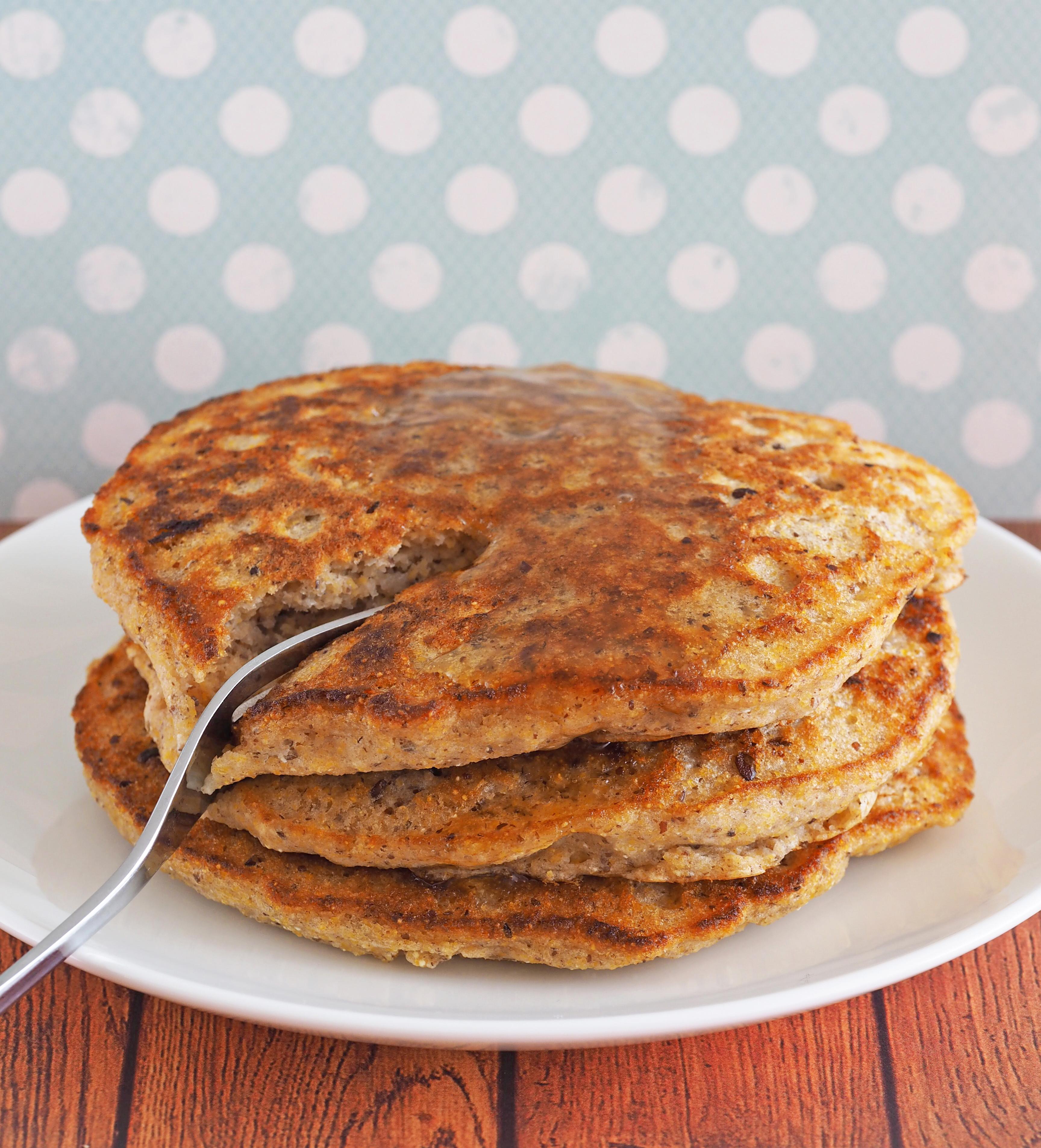 Healthy Cornmeal Pancakes  pumpkin cornmeal pancakes