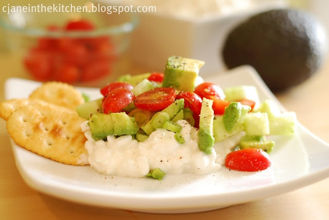 Healthy Cottage Cheese Snacks  Avocado Cottage Cheese Snack Food Healthy