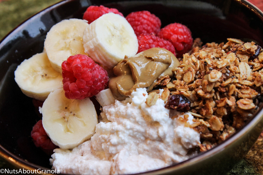 Healthy Cottage Cheese Snacks  Healthy Snack Idea Fruit Cottage Cheese and Granola Bowl