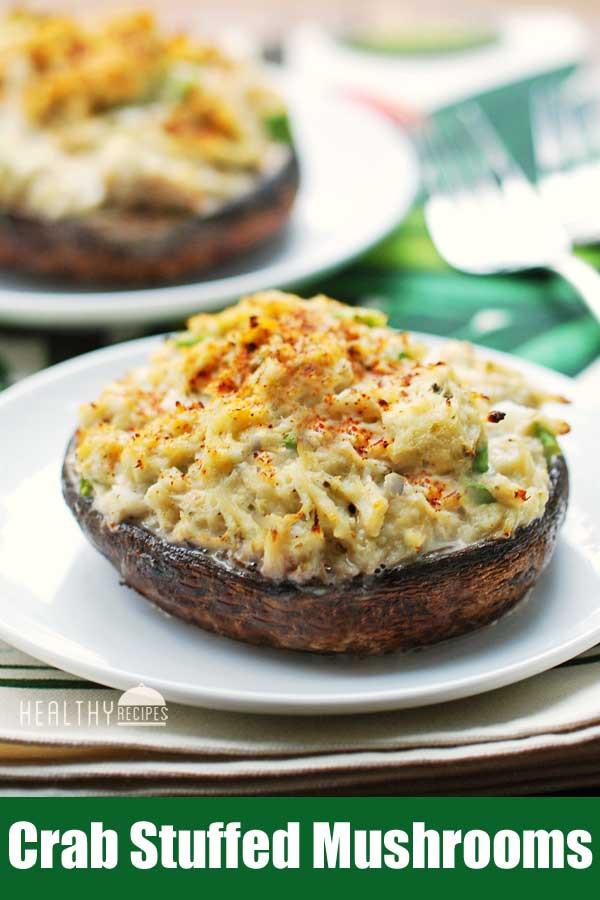 Healthy Crab Stuffed Portobello Mushroom Recipes  Crab Stuffed Mushrooms Healthy Keto Recipe