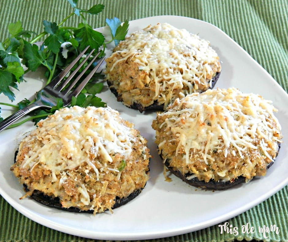 Healthy Crab Stuffed Portobello Mushroom Recipes  crab stuffed portabella mushrooms