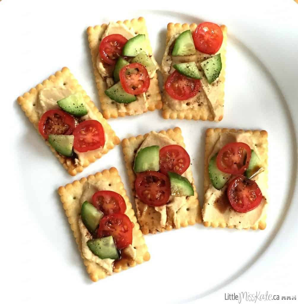 Healthy Cracker Snacks  Healthy and Nutritious Hummus Cracker Snacks Little Miss