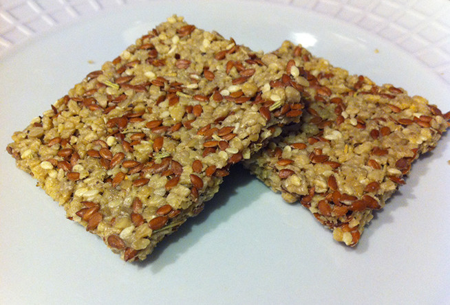 Healthy Cracker Snacks  Healthy Snack Rosemary Flax Crackers