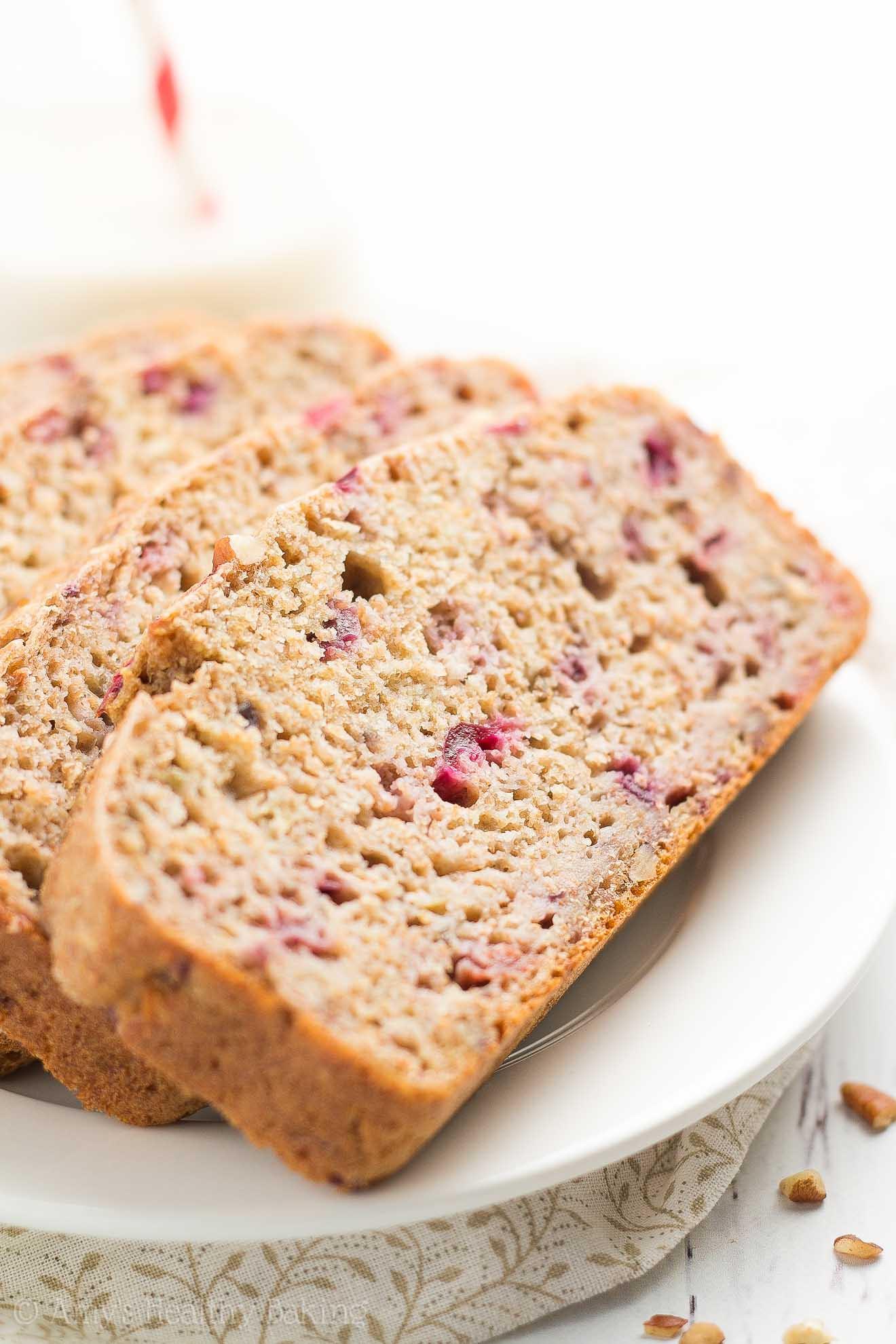 Healthy Cranberry Bread  Healthy Cranberry Pecan Banana Bread