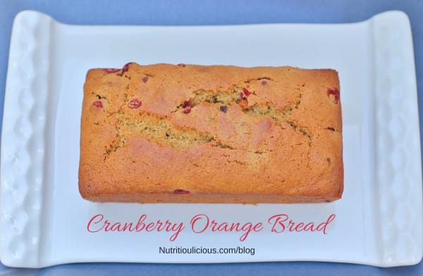 Healthy Cranberry Orange Bread  Cranberry Orange Bread Whole Grain Dairy Free Nut Free