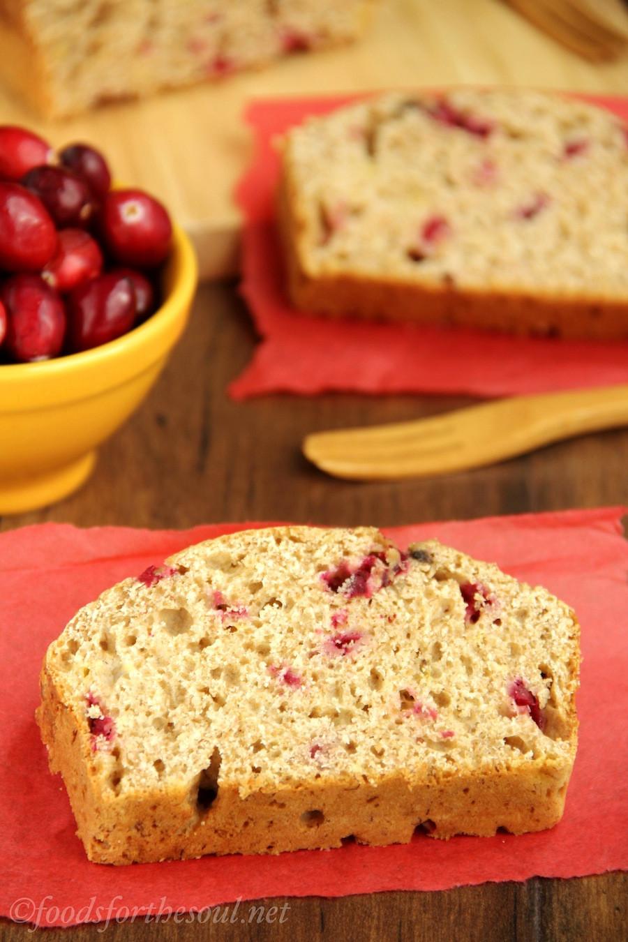 Healthy Cranberry Orange Bread  healthy cranberry bread
