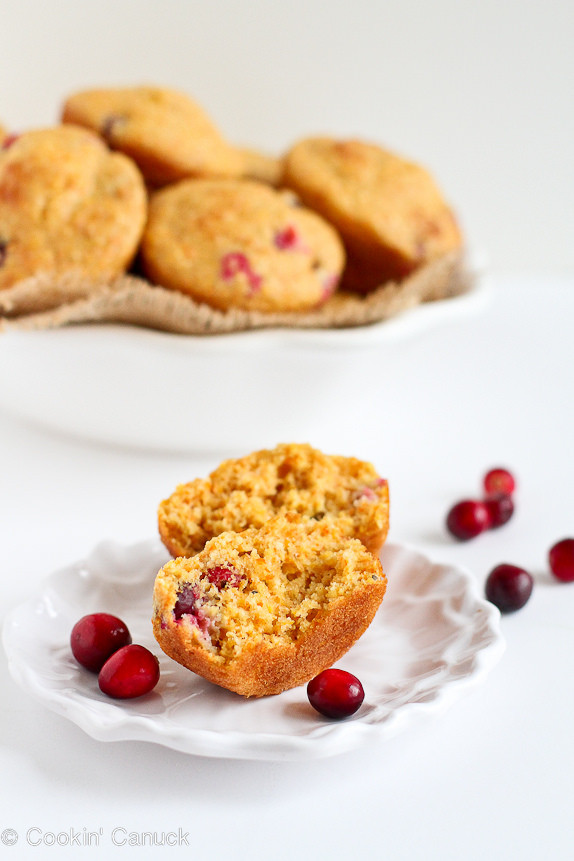 Healthy Cranberry Recipes  Healthy Cranberry Orange Cornmeal Muffins Recipe