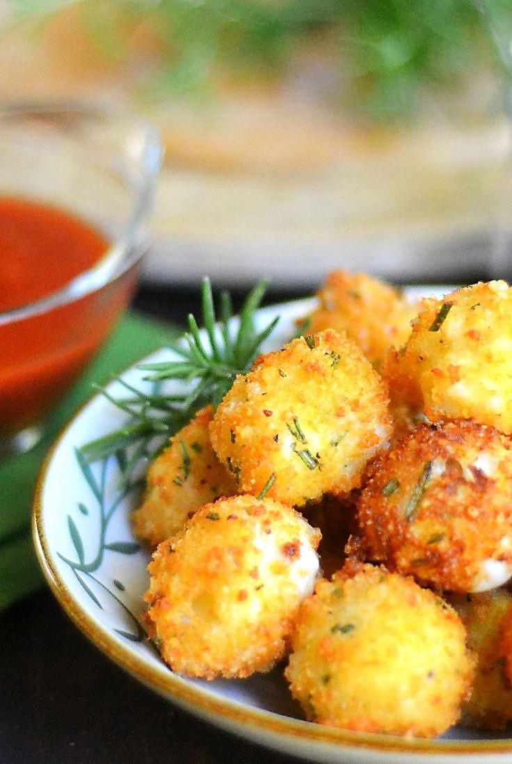 Healthy Crispy Snacks  Crispy Herb Mozzarella Cheese Ball – Best Healthy Fast