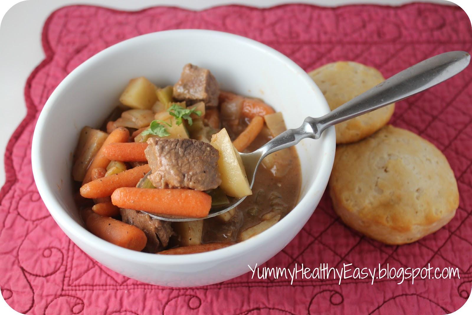 Healthy Crock Pot Beef Stew  Easy Crock Pot Beef Stew Yummy Healthy Easy