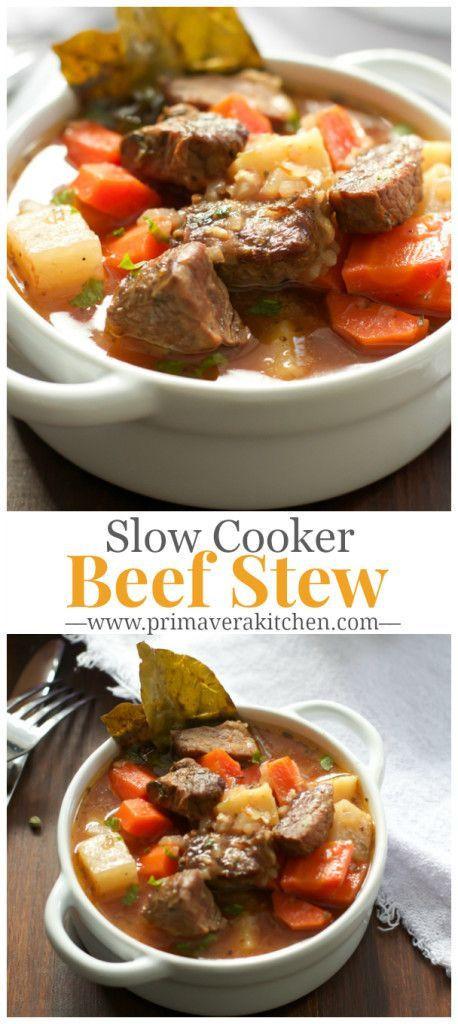 Healthy Crock Pot Beef Stew  Healthier Slow Cooker Beef Stew Recipe