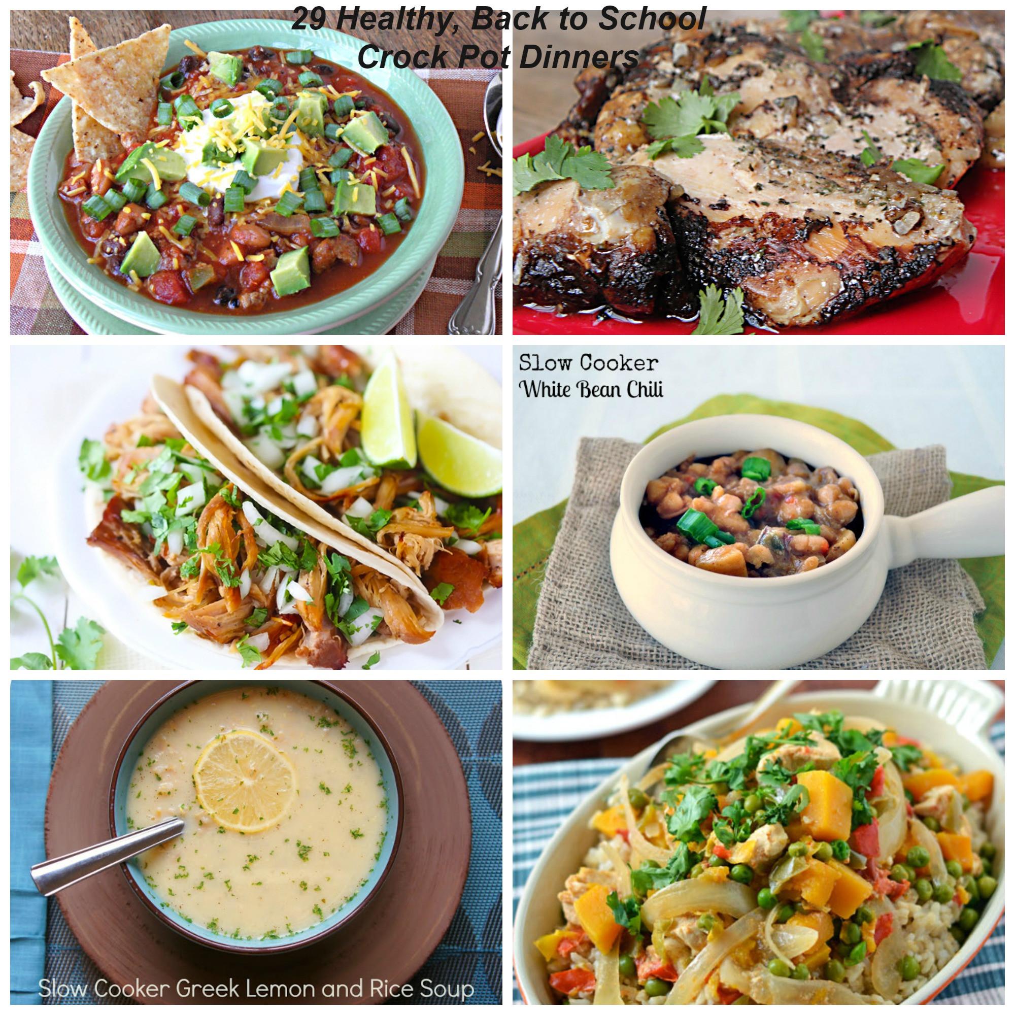 Healthy Crock Pot Dinners  29 Healthy Back to School Crock Pot Dinners