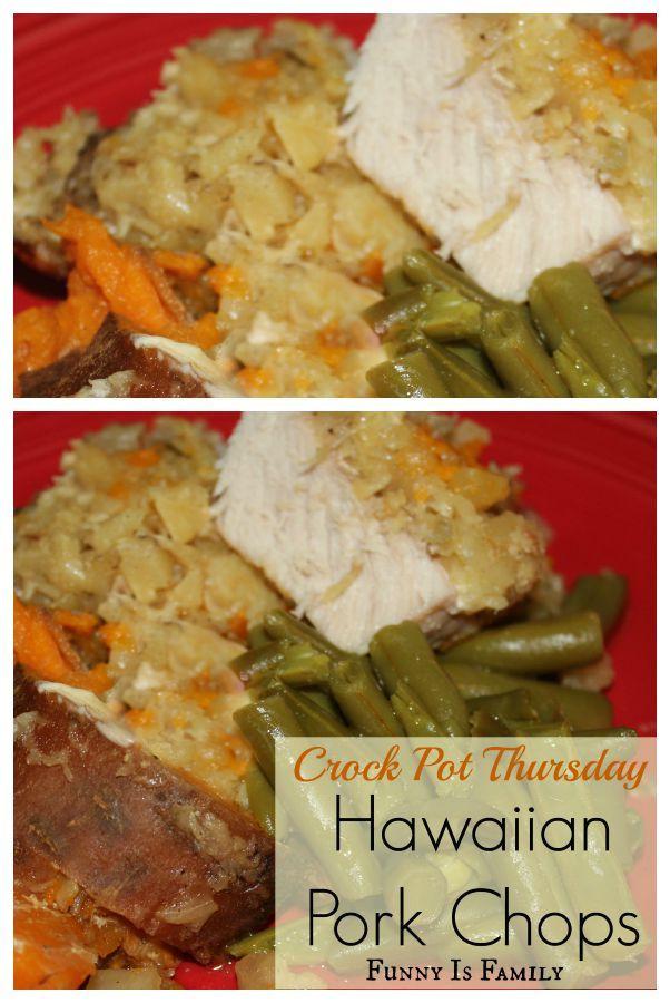 Healthy Crock Pot Pork Chops  Crock Pot Thursday Hawaiian Pork Chops Recipe