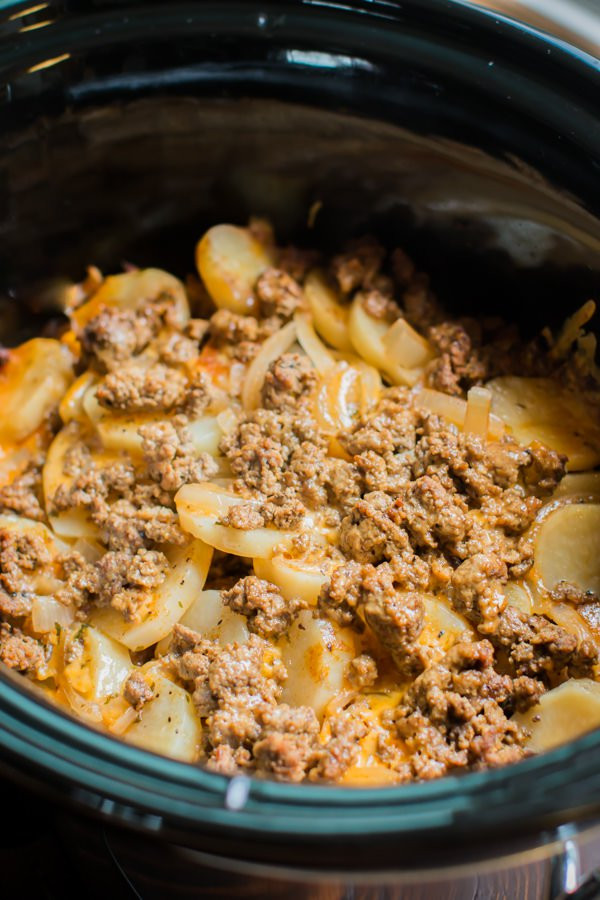Healthy Crock Pot Recipes With Ground Beef  crockpot ground beef recipes