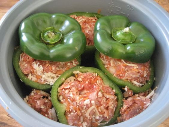 Healthy Crock Pot Recipes With Ground Beef  Crock Pot Pork Stuffed Peppers