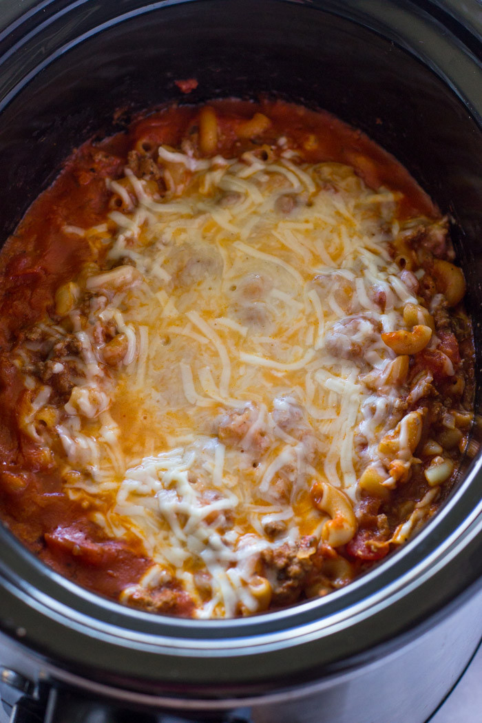 Healthy Crock Pot Recipes With Ground Beef  slow cooker ground beef and cheese pasta