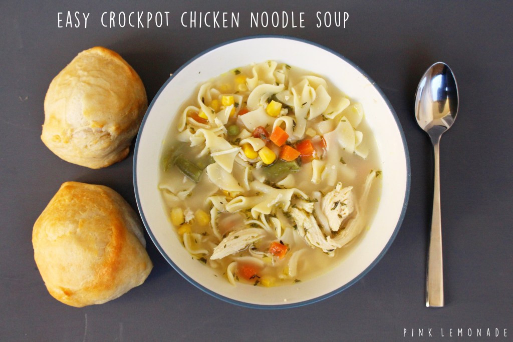Healthy Crockpot Chicken Noodle Soup  Easy Healthy Crockpot Chicken Noodle Soup