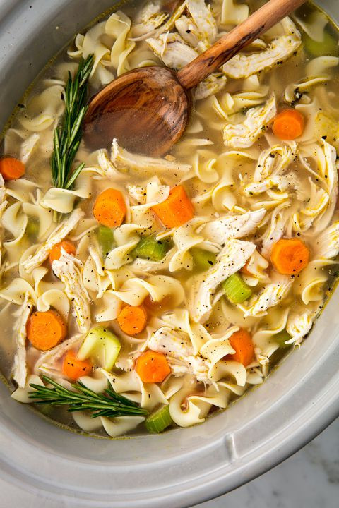 Healthy Crockpot Chicken Noodle Soup  Easy Crockpot Chicken Noodle Soup Recipe How to Make