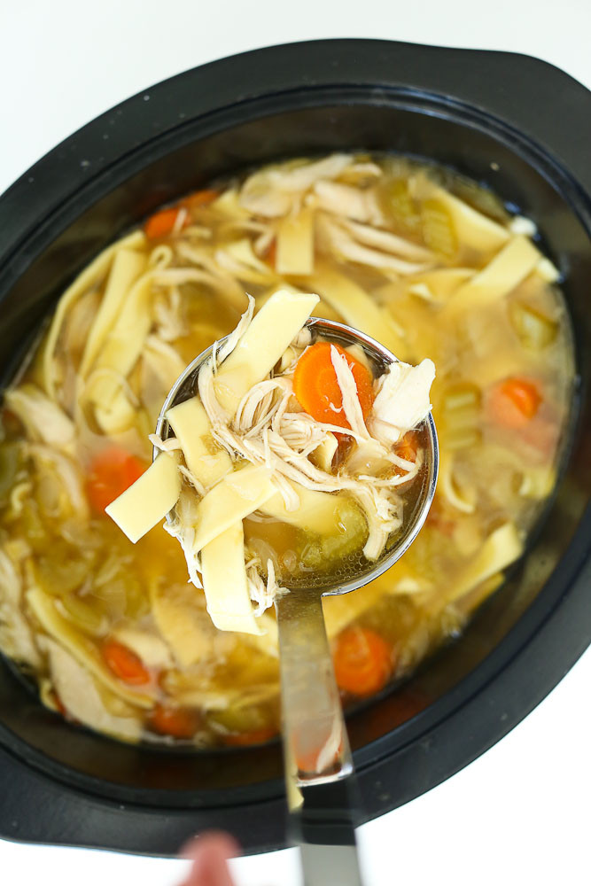 Healthy Crockpot Chicken Noodle Soup  Crock Pot Chicken Noodle Soup Recipe Happy Healthy Mama