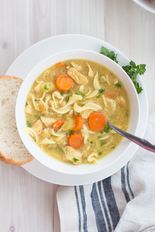 Healthy Crockpot Chicken Noodle Soup  Crockpot Low Fat All Natural Chicken Noodle Soup Panera