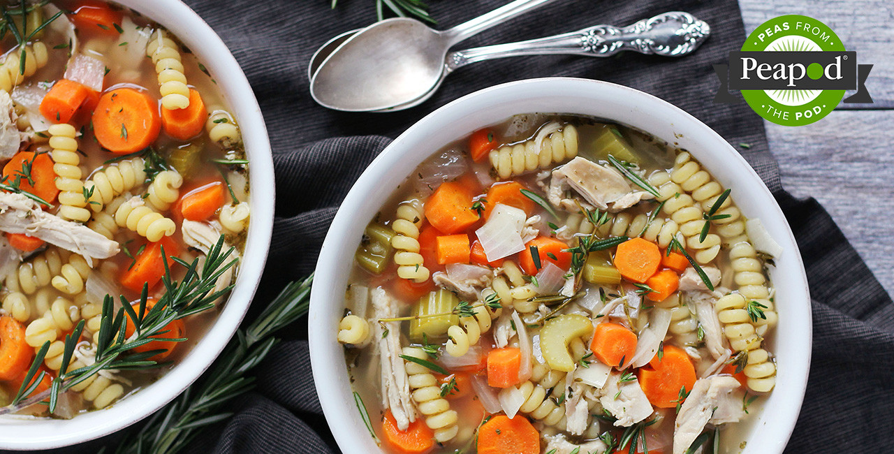 Healthy Crockpot Chicken Noodle Soup  forting & Healthy Slow Cooker Chicken Noodle Soup