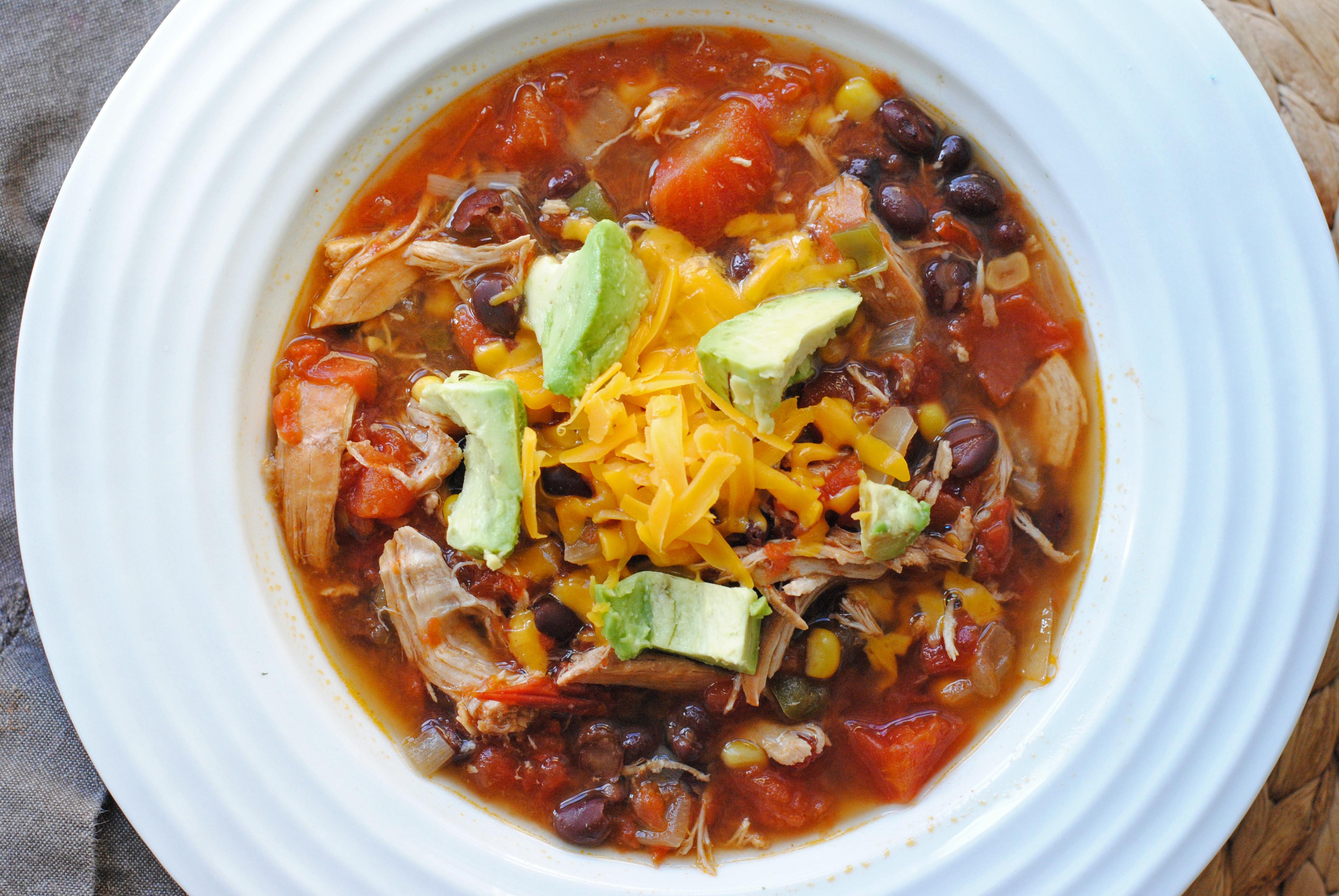 Healthy Crockpot Soups  HEALTHY CROCK POT RECIPES TORTILLA SOUP