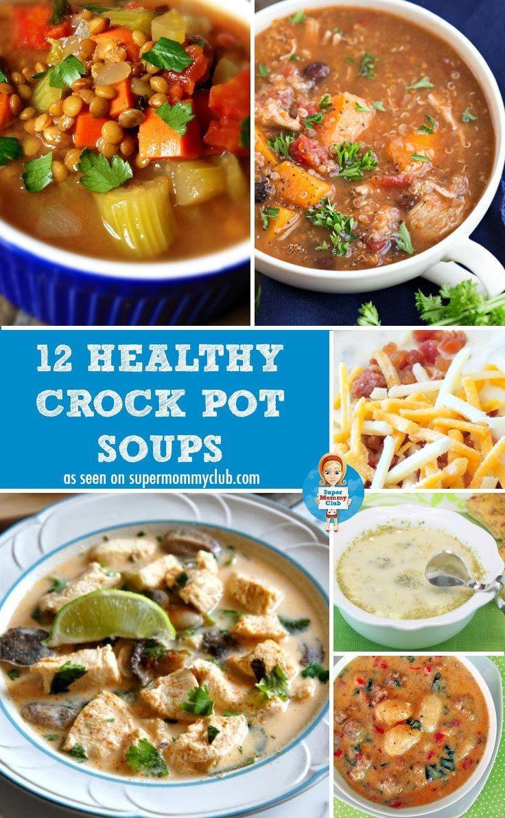 Healthy Crockpot Soups  266 best images about Slow Cooker Recipes Recetas en