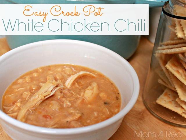 Healthy Crockpot White Chicken Chili  Easy Crock Pot White Chicken Chili Mom 4 Real