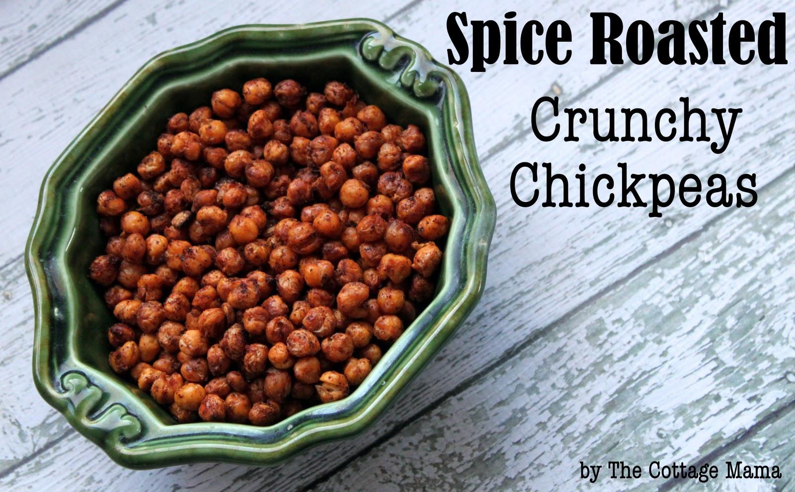 Healthy Crunchy Snacks  Easy Healthy Snack Spice Roasted Crunchy Chickpeas
