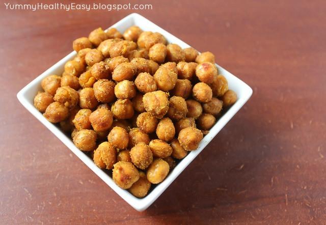 Healthy Crunchy Snacks  Crunchy Chickpeas the perfect healthy snack Yummy